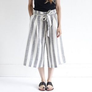 NWT Ace & Jig Haystack Bay Belted Wide Leg Pants